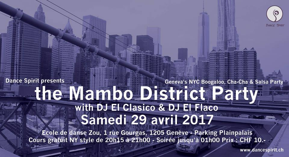 The Mambo District Party – 29 Avril 2017