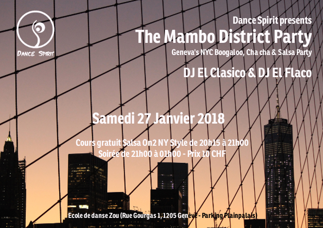 The Mambo District Party – 27 janvier 2018