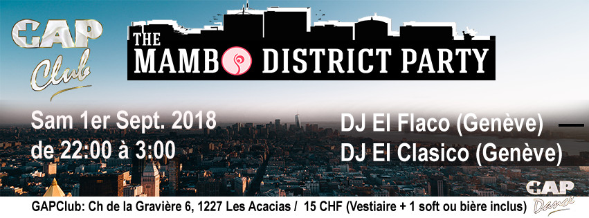 The Mambo District Party (GAPDance Edition) – 1er Sept. 2018