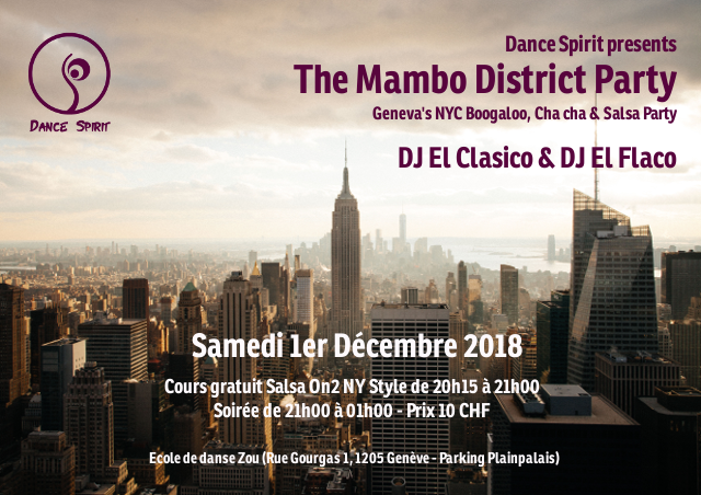 The Mambo District Party – 1er Déc. 2018