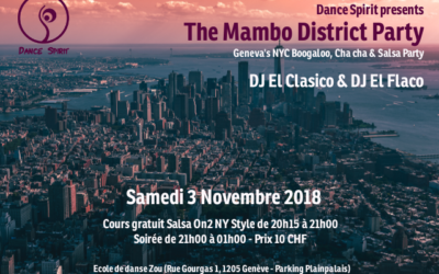The Mambo District Party – 3 Nov. 2018